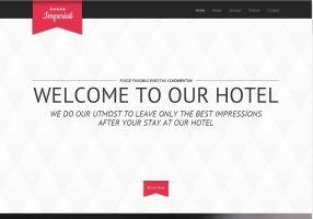 Вариант сайта для гостиницы отеля хостела
