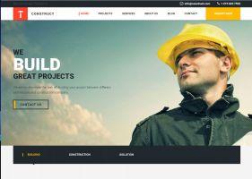 Вариант сайта для строительной фирмы